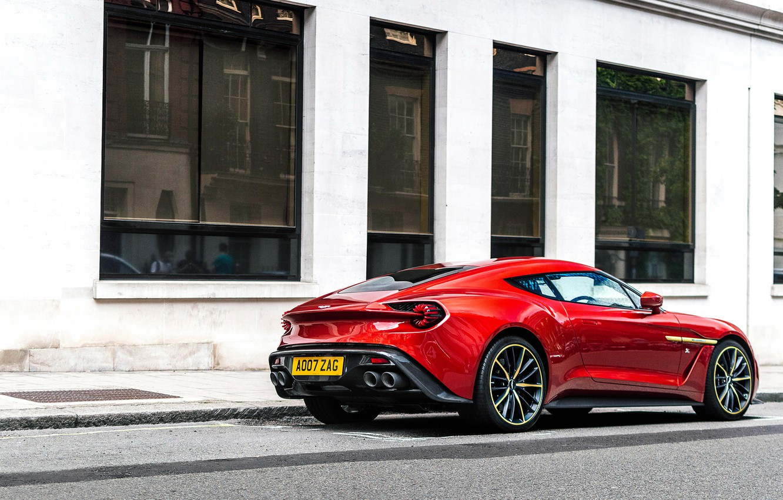 Photo wallpaper red, sports car, Aston Martin Vanquish Zagato, Gran Turismо