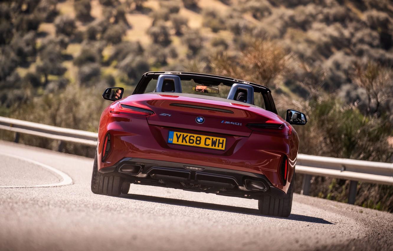 Wallpaper red, BMW, Roadster, feed, BMW Z4, M40i, Z4, 2019 ...