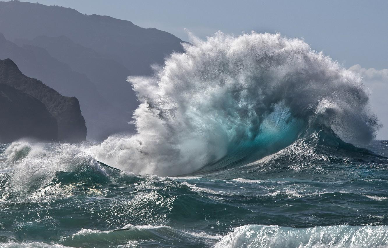 Photo wallpaper water, nature, element, wave, beauty