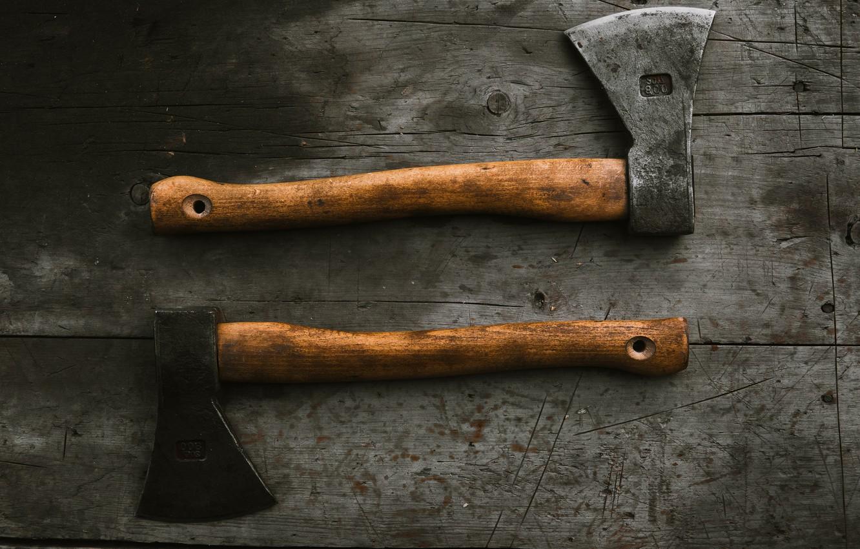 Photo wallpaper axe, axe, axes