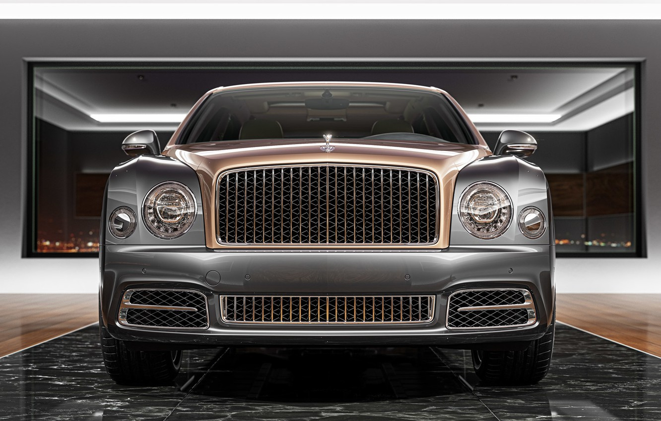 Photo wallpaper Auto, Bentley, Machine, Lights, Rendering, The front, Bentley Mulsanne, Mulsanne, Transport & Vehicles, by Damian …