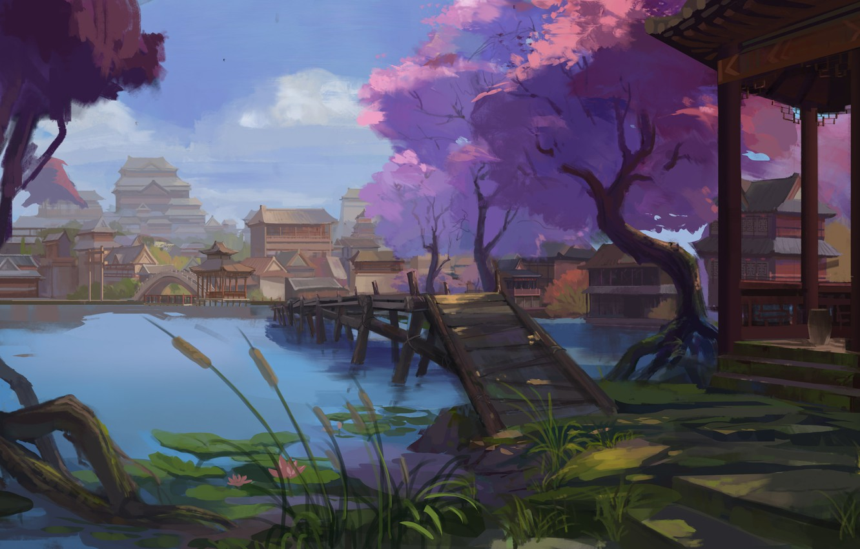 Photo wallpaper landscape, Asia, East