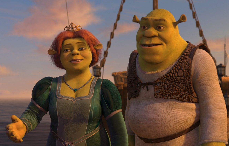 Photo wallpaper love, Shrek, Shrek, Fiona