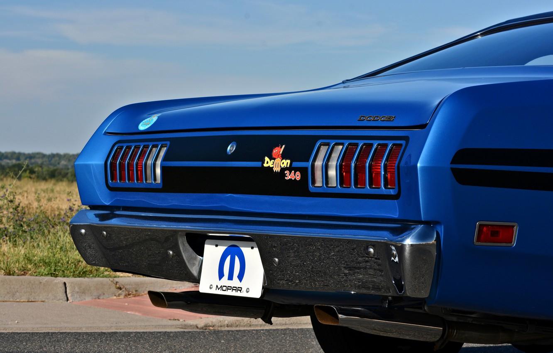 Photo wallpaper Dodge, Ass, Blue, Logo, Old, Muscle car, Mopar, Demon, Vehicle, Dodge Demon GSS