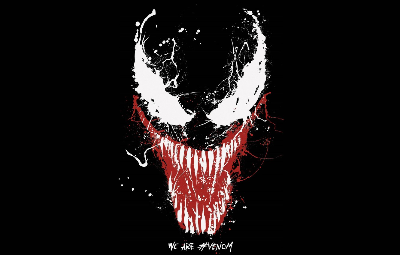 Photo wallpaper background, paint, Eyes, black, Sony, poster, Eyes, 2018, venom, paint, Comics, MARVEL, Venom, Marvel, Comics, …