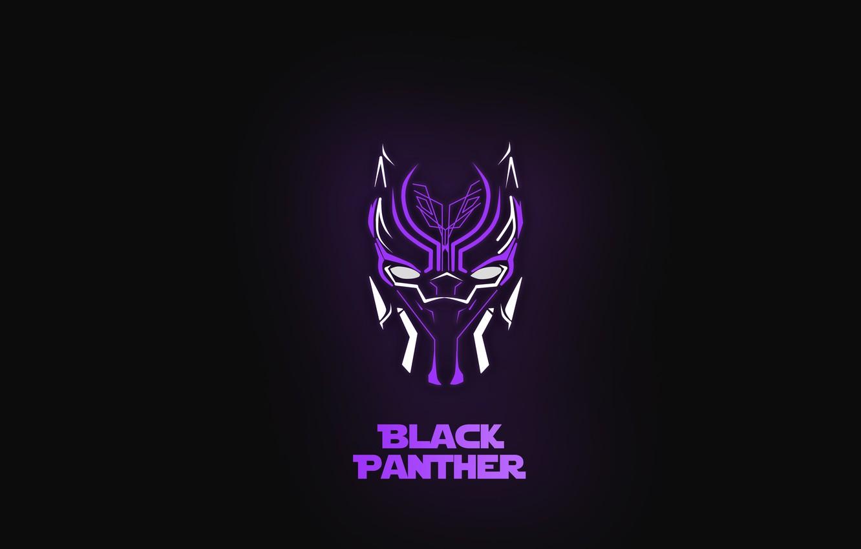 Wallpaper Minimalism Marvel Black Panther Black Panther