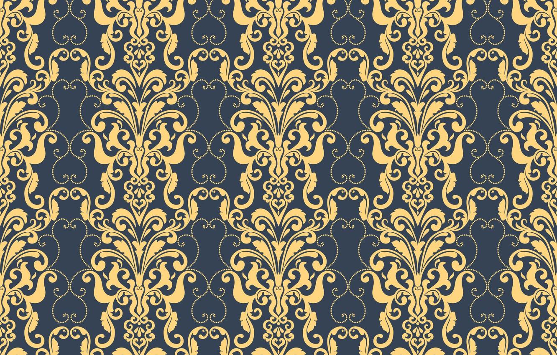 Photo wallpaper blue, retro, background, pattern, ornament, style, vintage, ornament, seamless, victorian