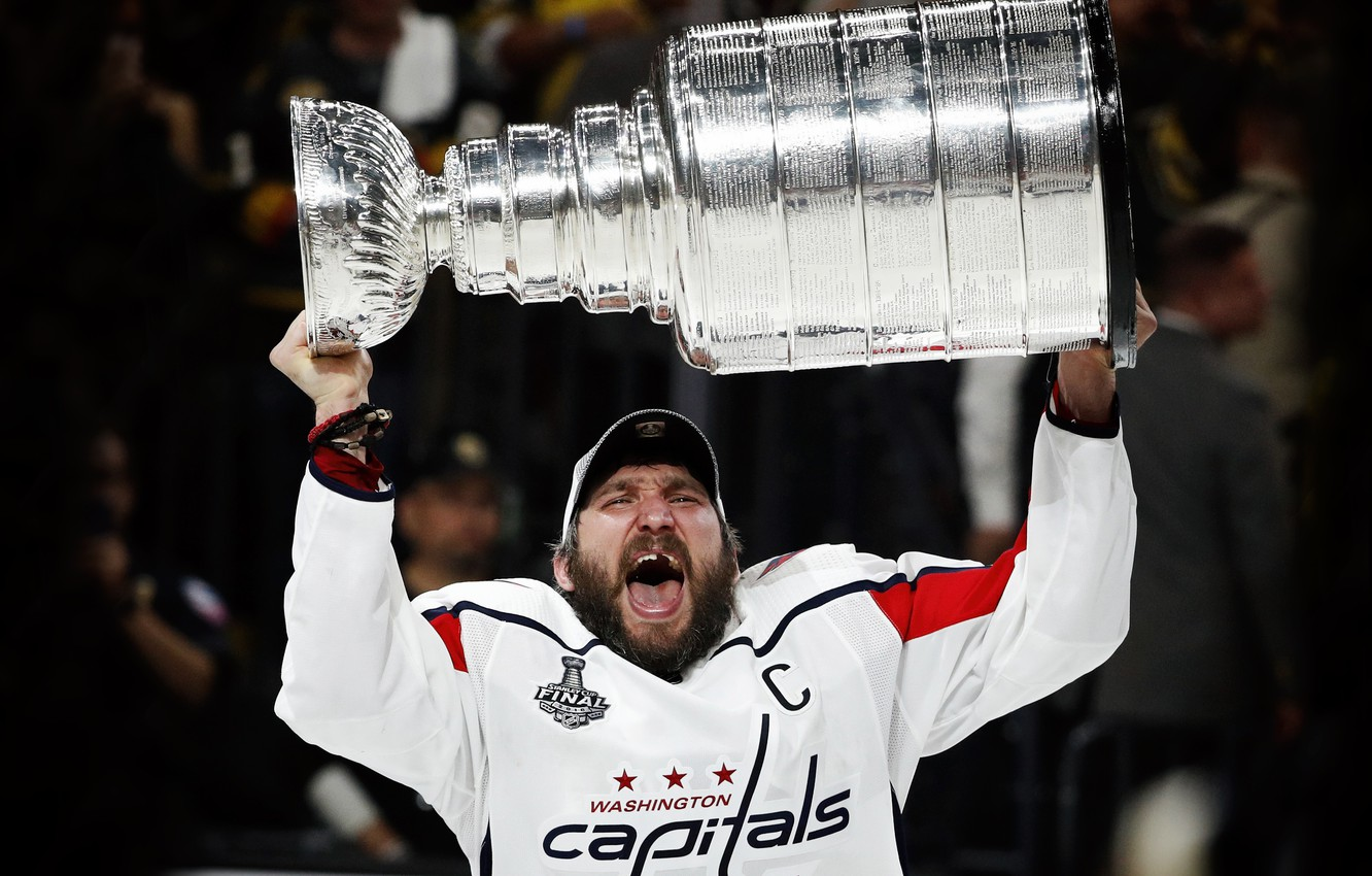 Photo wallpaper The game, Ice, Washington, Ice, Washington, 2018, Alexander Ovechkin, NHL, NHL, Washington Capitals, Ovechkin, Cup, …