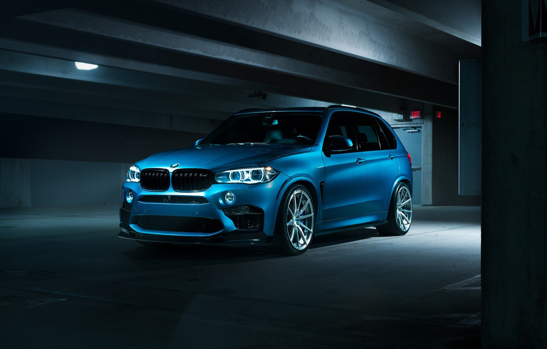 Photo wallpaper BMW, Dark, Blue, X5M