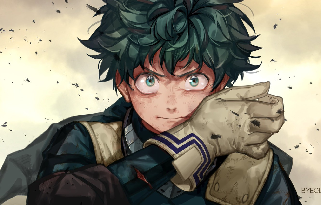 Wallpaper Look Hero Guy My Hero Academia Boku No Hero