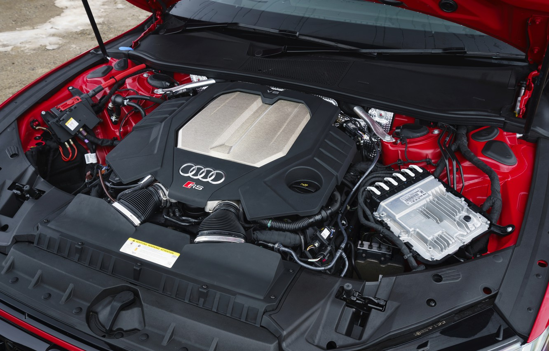 Photo wallpaper Audi, engine, TFSI, RS 7, 2020, 600 HP, UK version, V8 Twin-Turbo, RS7 Sportback, 4.0 …