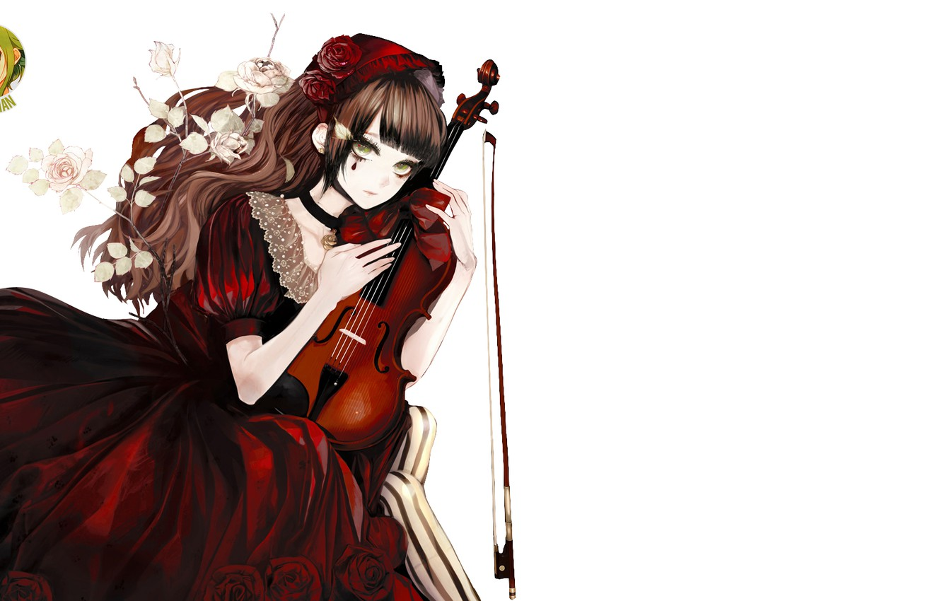 Photo wallpaper girl, violin, bow, by izza chan