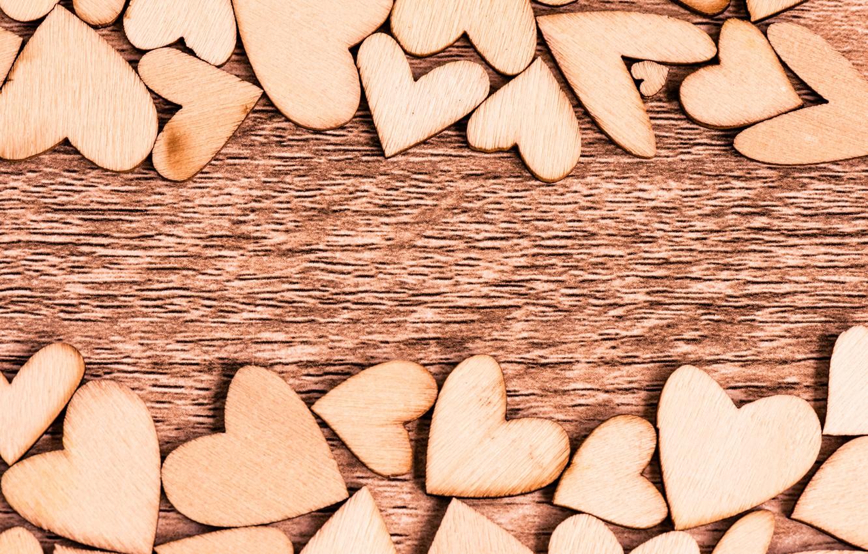 Photo wallpaper love, tree, heart, hearts, love, wood, romantic, hearts