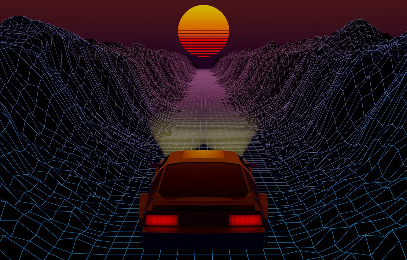 Wallpaper The Sun Auto Music Machine Star Background 80s Neon 80 S Synth Retrowave Synthwave New Retro Wave Futuresynth Sintav Retrouve Images For Desktop Section Rendering Download