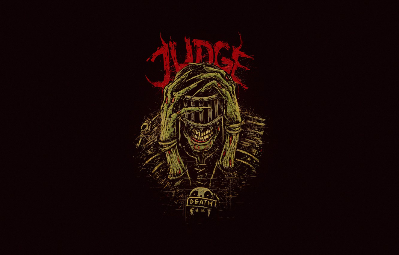 Wallpaper Bogdan Timchenko Skull Joker Judge Death Background