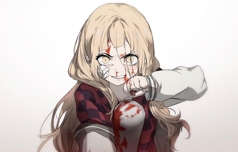 Photo wallpaper blood, the game, art, girl, bit, Sinoalice, Akazukin
