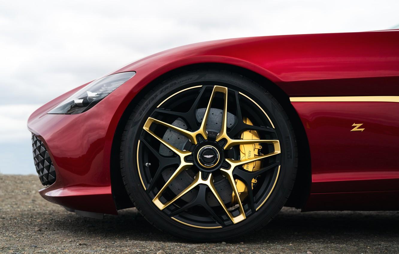 Photo wallpaper red, Aston Martin, coupe, wheel, Zagato, 2020, V12 Twin-Turbo, DBS GT Zagato, 760 HP