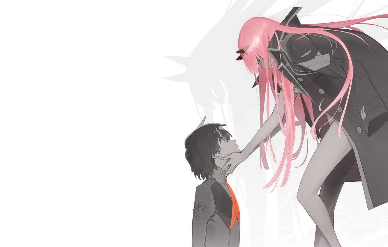 Photo wallpaper girl, romance, guy, Darling In The Frankxx