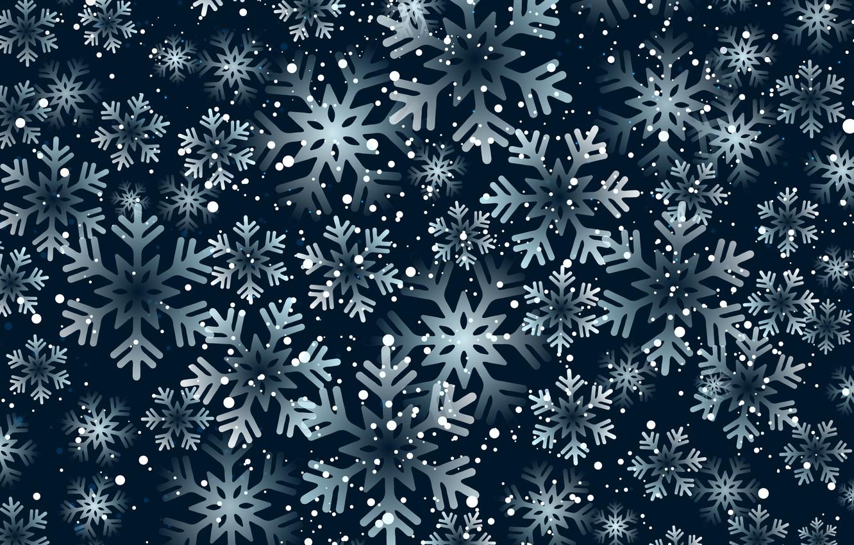 Wallpaper light, snowflakes, Snow, Star, Christmas
