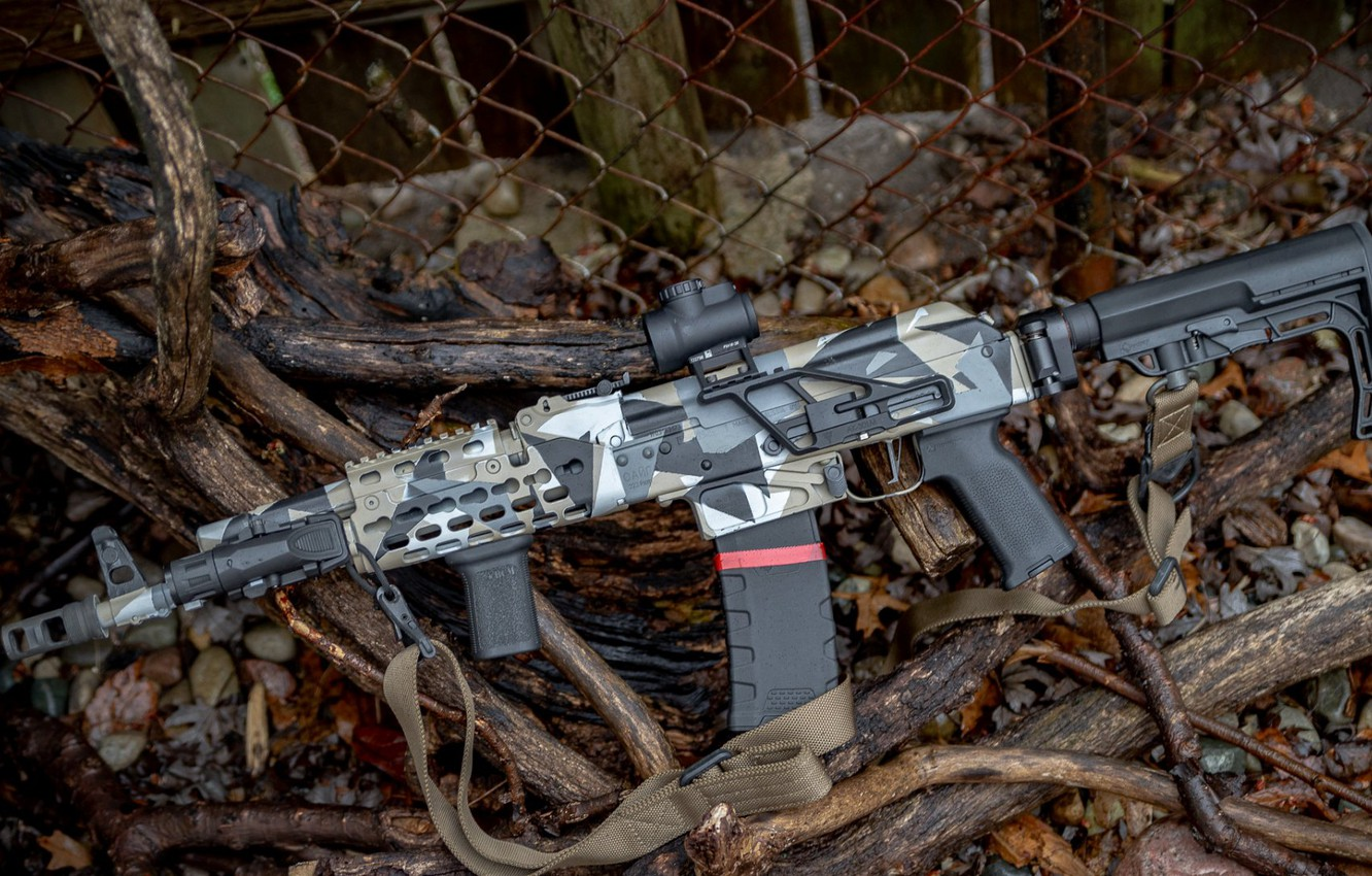 Photo wallpaper weapons, tuning, weapon, custom, custom, Kalashnikov, assault rifle, Assault Rifle, Kalashnikov