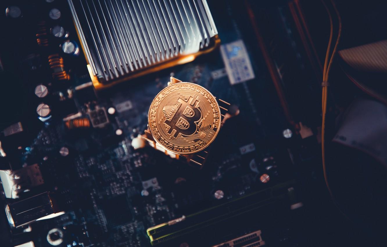 Photo wallpaper motherboard, Bitcoin