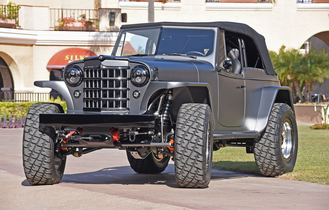Photo wallpaper custom, 4x4, offroad, 1950, mike warn 1950 willys jeepster tim divers, JEEPSTER, WILLYS