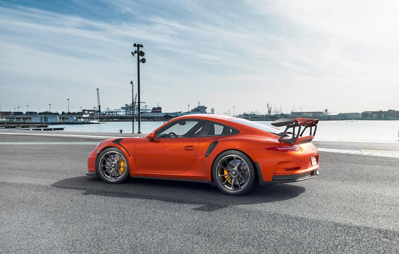 Photo wallpaper Auto, 911, Porsche, Machine, Orange, Car, Car, Render, Sports car, Transport & Vehicles, Togrul Hasanov, …