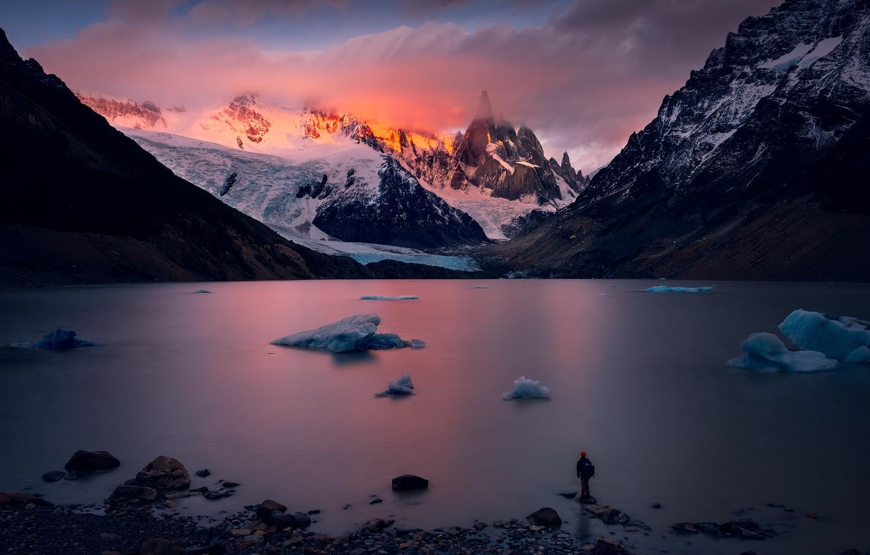 Photo wallpaper mountain, patagonia, Cerro Torre, Before sunrise