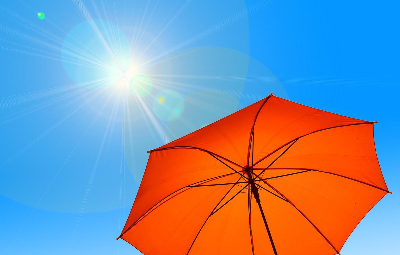 Photo wallpaper summer, the sky, the sun, umbrella, hot