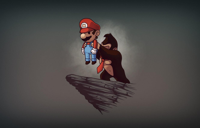 Wallpaper Minimalism Figure Mario Background Art Mario