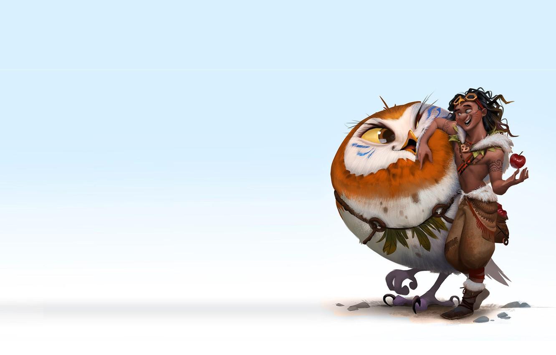 Photo wallpaper bird, art, hero, children's, driving, The Journey of Aviator, Kun Vic, Cast of the character …