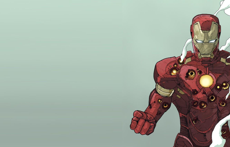 Photo wallpaper Smoke, Costume, Hero, Superhero, Hero, Armor, Iron man, Iron Man, Marvel, Smoke, Marvel Comics, Comics, …