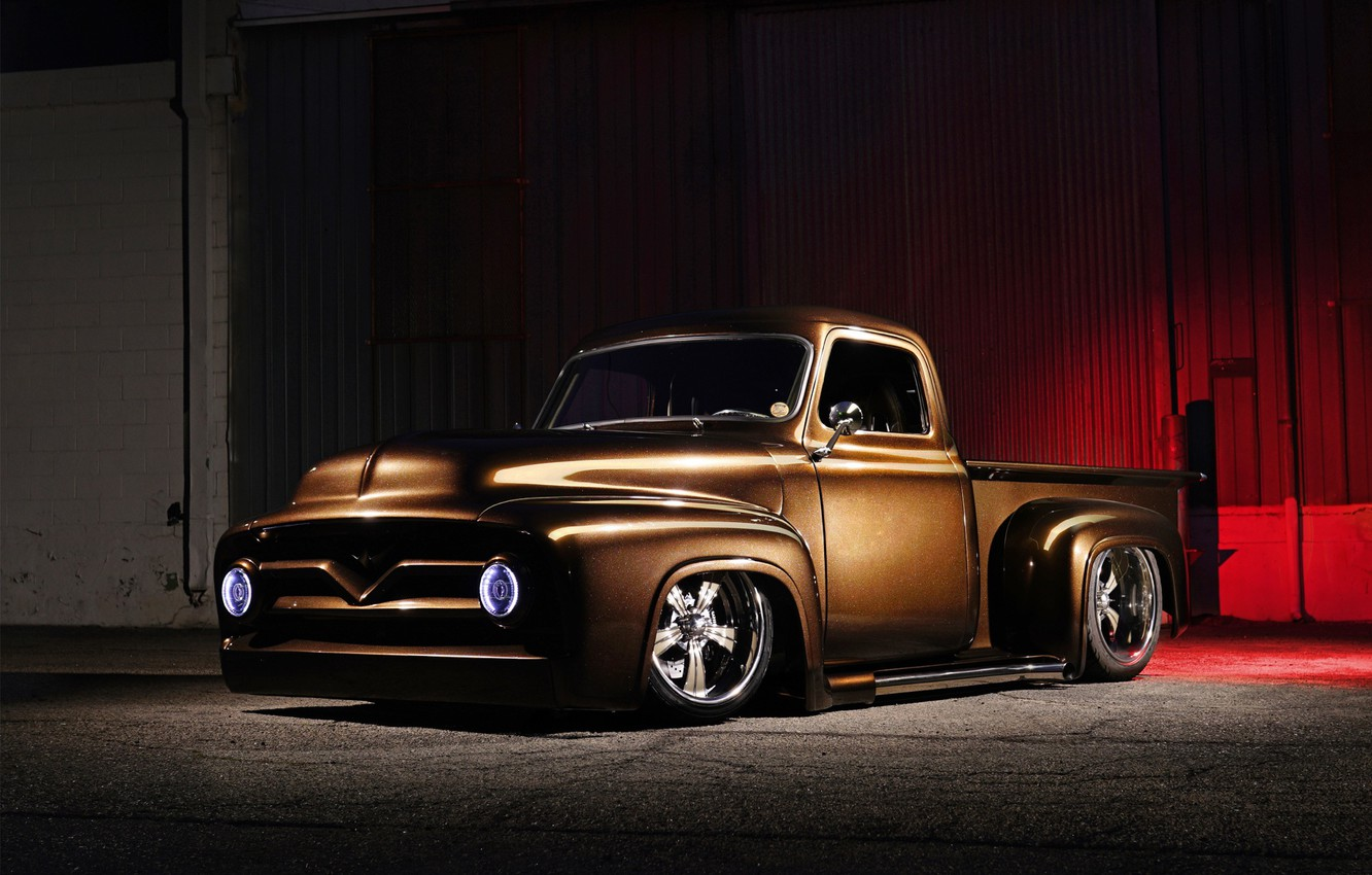 Photo wallpaper Ford, Truck, Custom, Pick up, Vehicle, Ford F-100