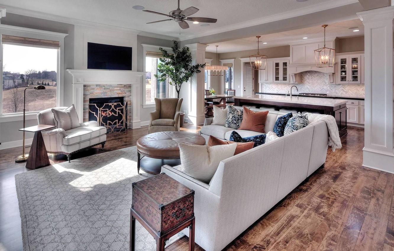 Photo wallpaper interior, kitchen, living room, dining room