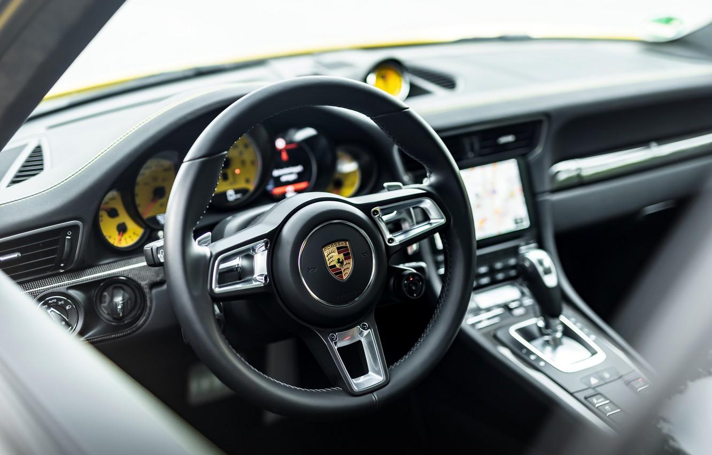 Photo wallpaper yellow, coupe, 911, Porsche, devices, the wheel, 991, Manhart, 911 Turbo S, 2020, 991.2, 850 …