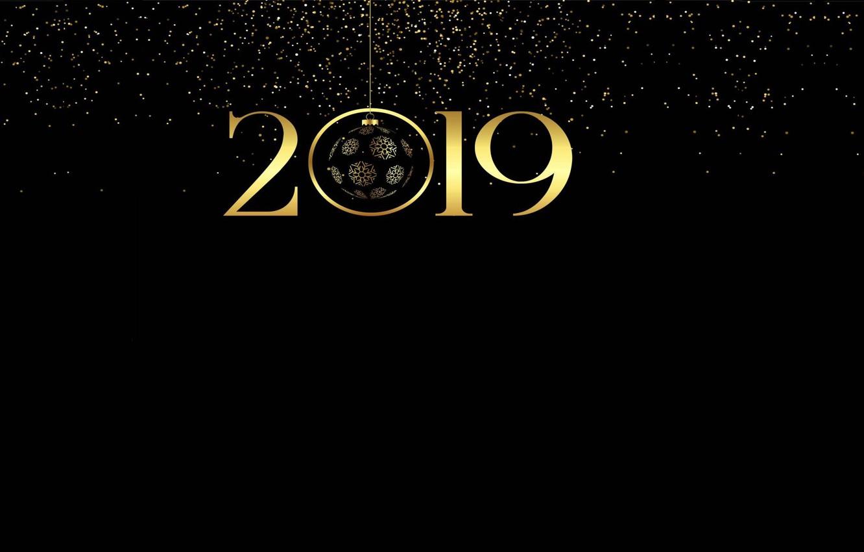 Photo wallpaper lights, mood, holiday, the inscription, minimalism, New Year, art, Happy new year!