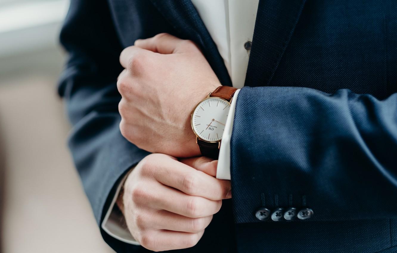 Photo wallpaper style, watch, costume, business style