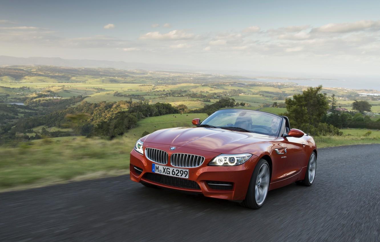 Photo wallpaper road, landscape, BMW, Roadster, 2013, E89, BMW Z4, Z4, sDrive35is