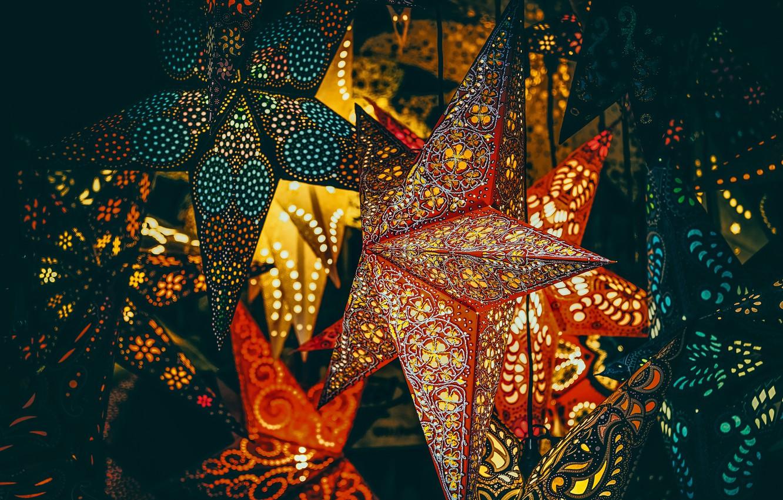 Photo wallpaper stars, Christmas, New year