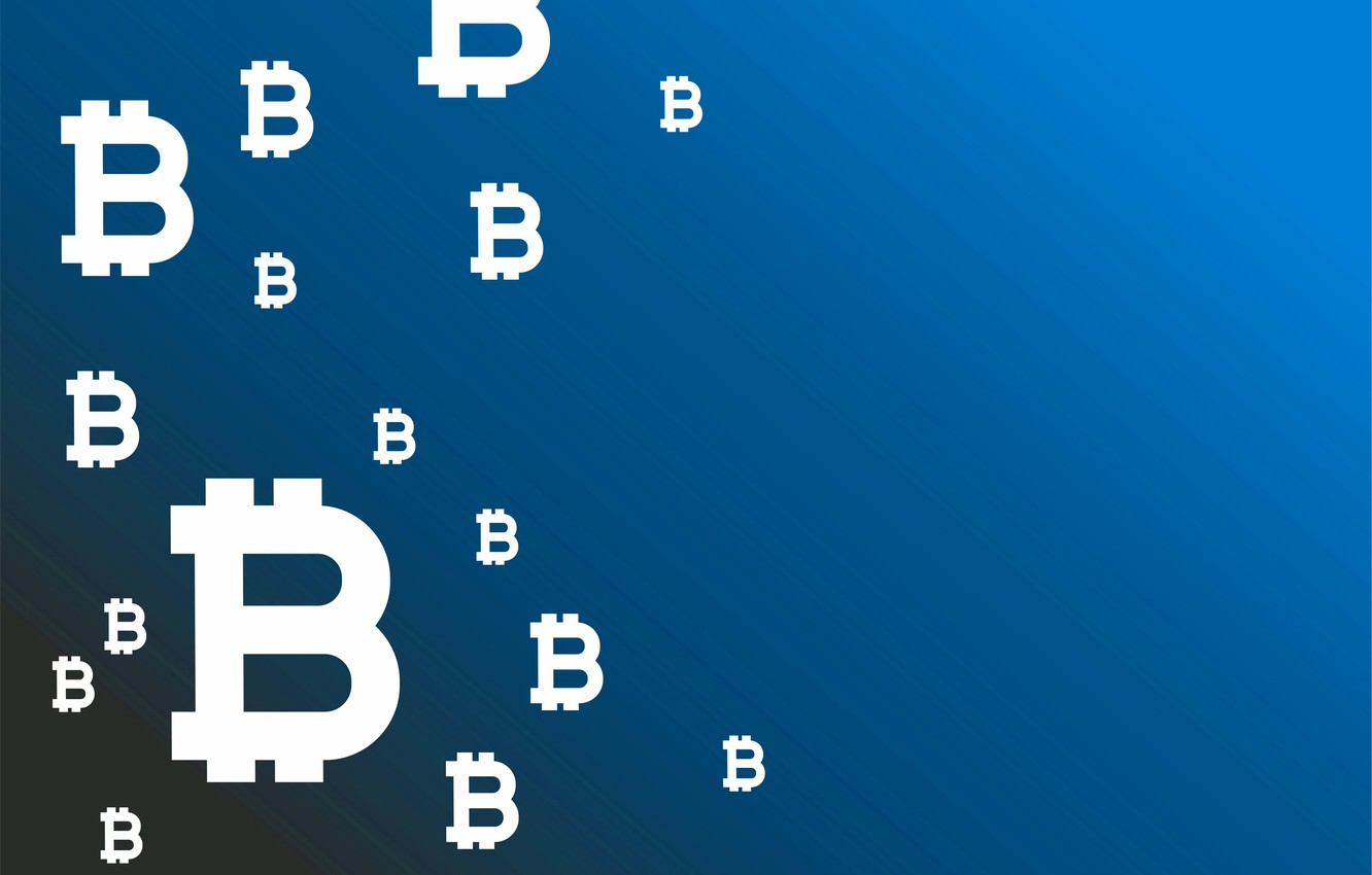 Photo wallpaper blue, background, logo, logo, blue, fon, bitcoin, bitcoin, btc