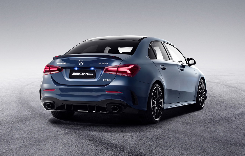 Photo wallpaper China, Mercedes-Benz, rear view, AMG, 4MATIC, A-Class, 2019, A35 L