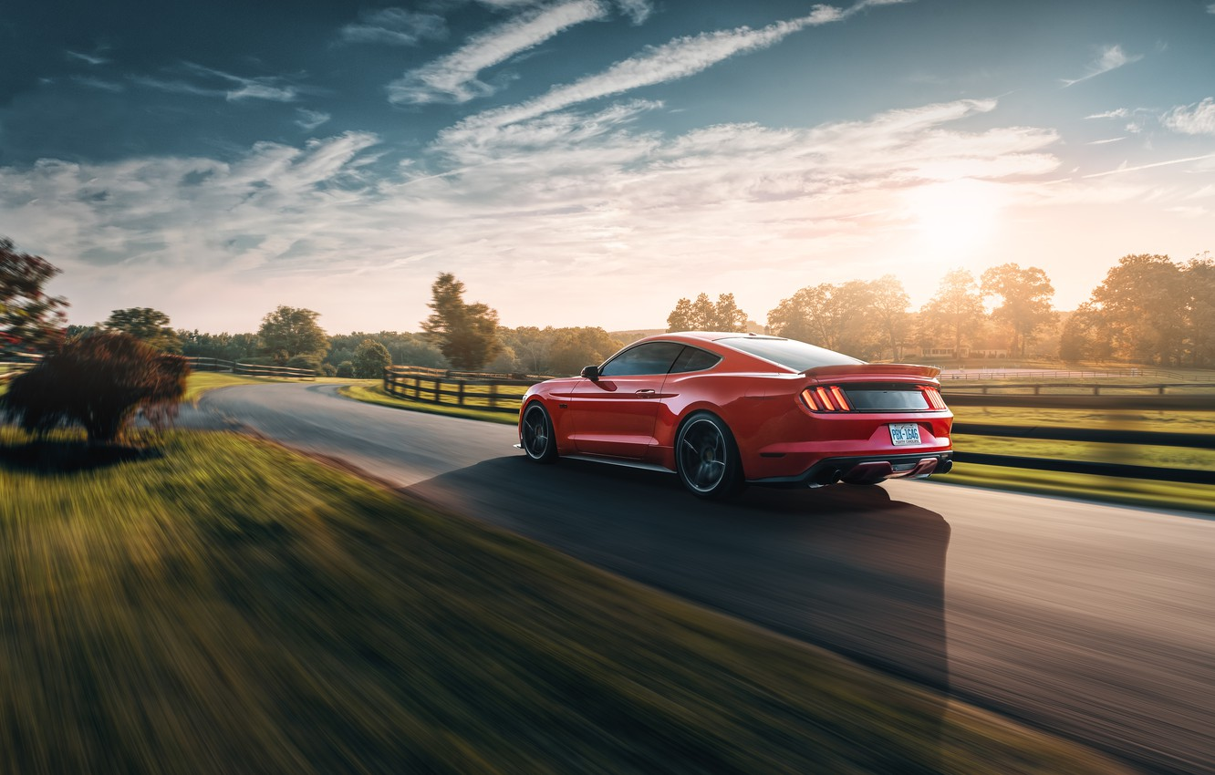 Photo wallpaper speed, Mustang, Ford, 2018, Mustang GT, by Jimmy Zhang