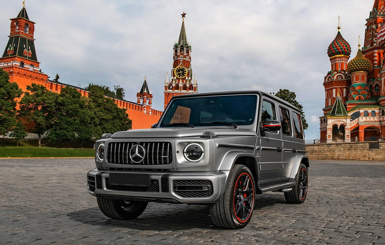 Photo wallpaper MOSCOW, 2019, Mersedes Benz, G 63 AMG, RED SQUARE, The KREMLIN