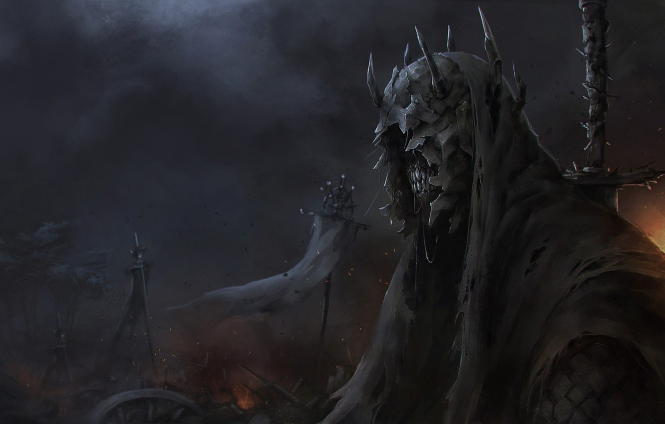 Wallpaper Nazgul Figure The Lord Of The Rings Art Nazgul