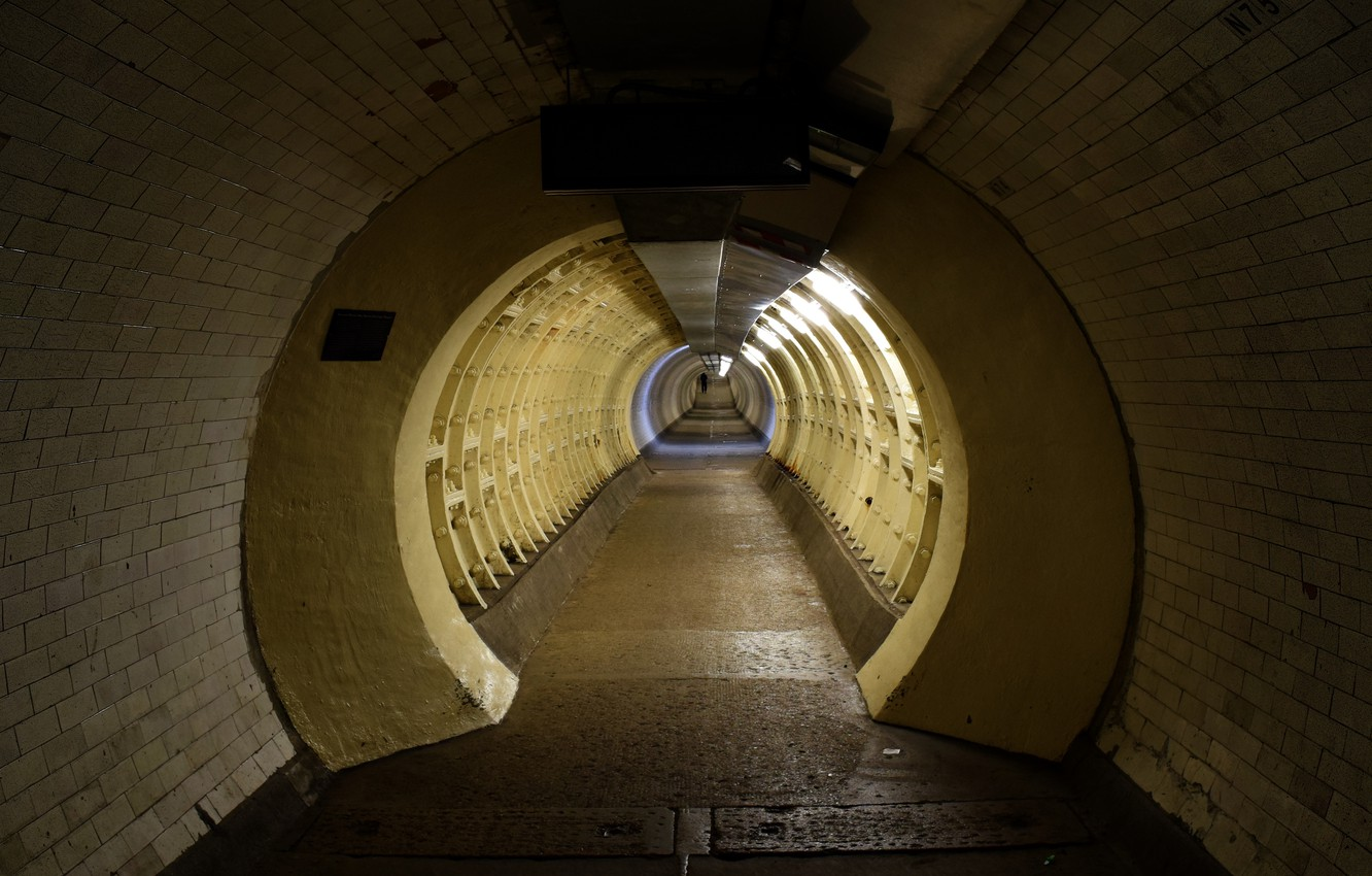Photo wallpaper perspective, London, the transition, the tunnel