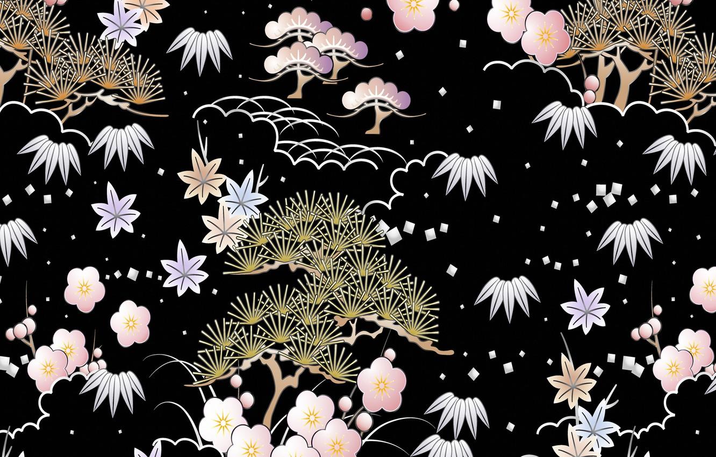 Photo wallpaper figure, texture, black background