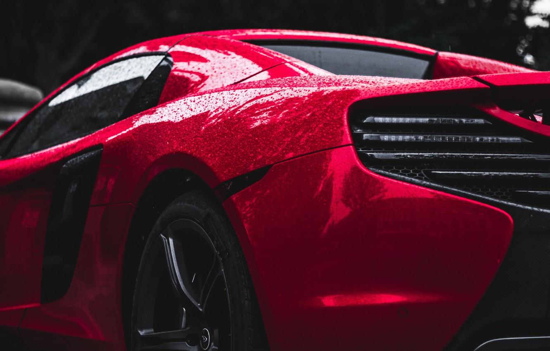 Photo wallpaper drops, McLaren, supercar, sports, side view, drops, side-view