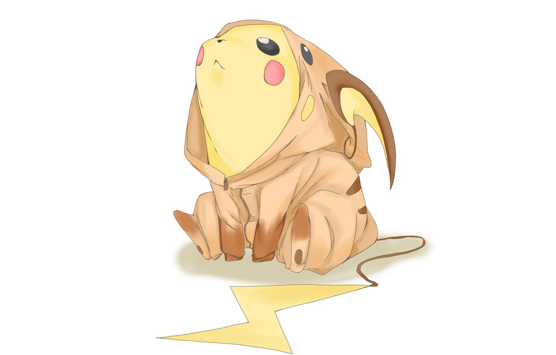 Photo wallpaper Pikachu, Pokemon, suit