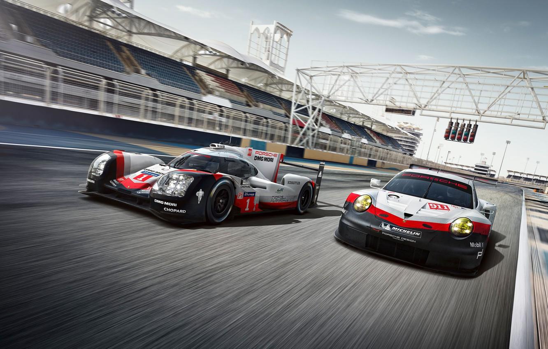 Photo wallpaper 911, Porsche, Hybrid, GT3 R, 919