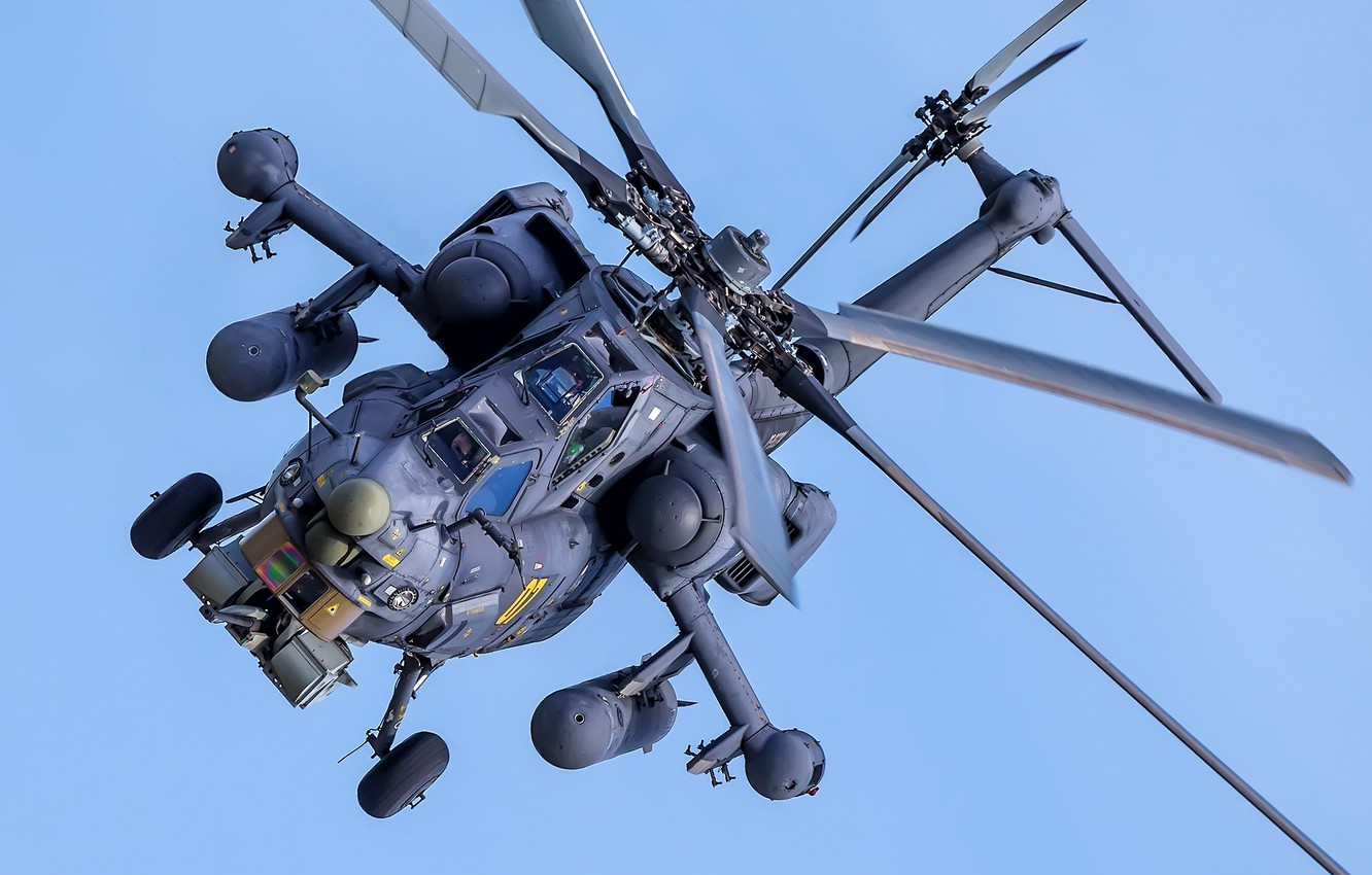 """Photo wallpaper helicopter, Mi-28N, attack helicopter, Mi-28N """"Night hunter"""""""